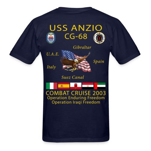 USS ANZIO CG-68 2003 CRUISE SHIRT - Men's T-Shirt