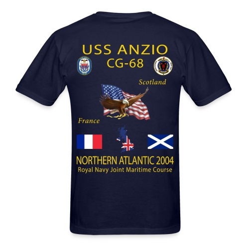 USS ANZIO CG-68 2004 CRUISE SHIRT - Men's T-Shirt