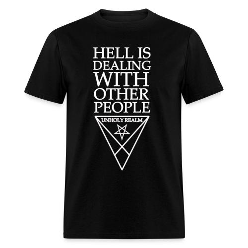 HELL REALM BLACK & WHITE - Men's T-Shirt