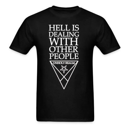 HELL REALM BLACK & WHITE - Men's T-Shirt