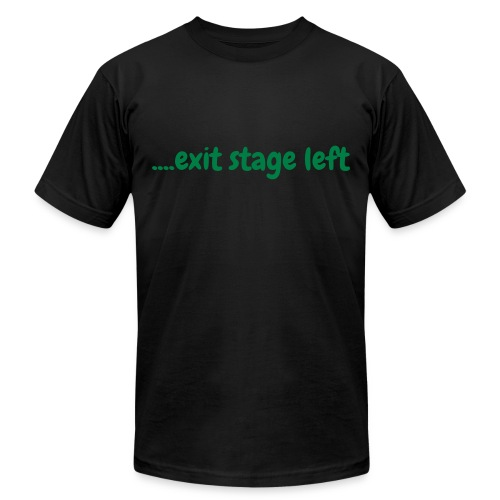 Exit stage left on the tee - Men's Fine Jersey T-Shirt