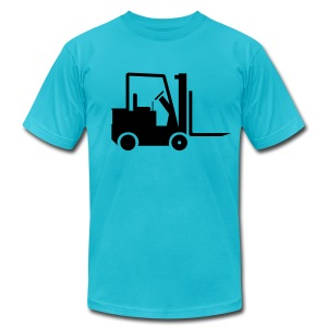 Fork Lift Men's Tshirt - Men's T-Shirt by American Apparel