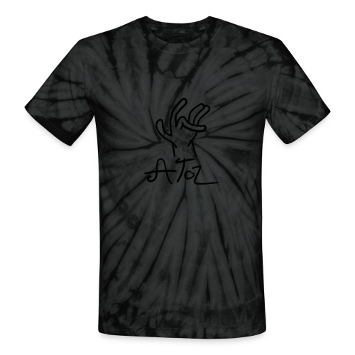 Atoz T-Shirt Tie and Dye Black - Unisex Tie Dye T-Shirt