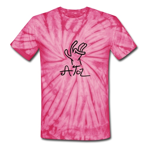 Atoz T-Shirt Tie and Dye Red - Unisex Tie Dye T-Shirt