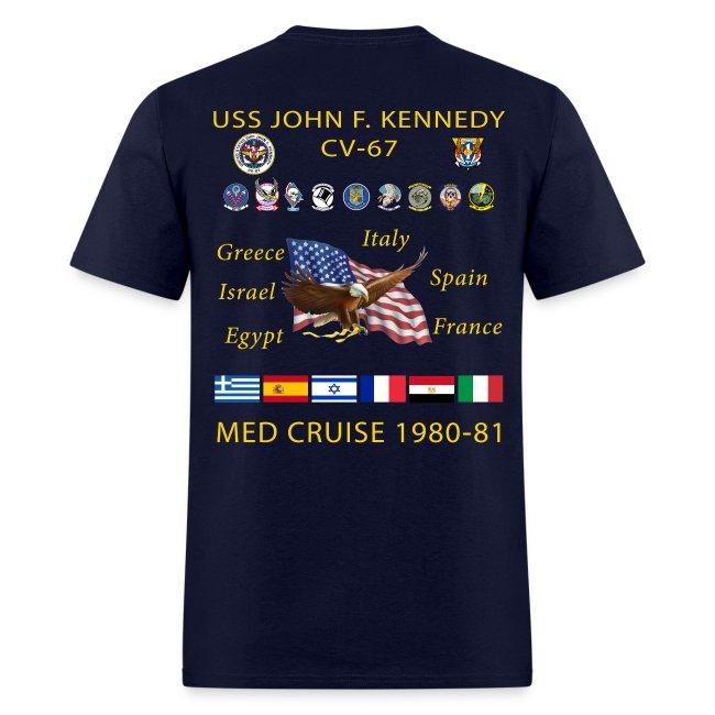 USS JOHN F KENNEDY CV-67 MED CRUISE 1980-81 CRUISE SHIRT