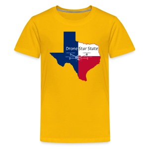 Drone Star State T-Shirt, Yellow - Kids' Premium T-Shirt