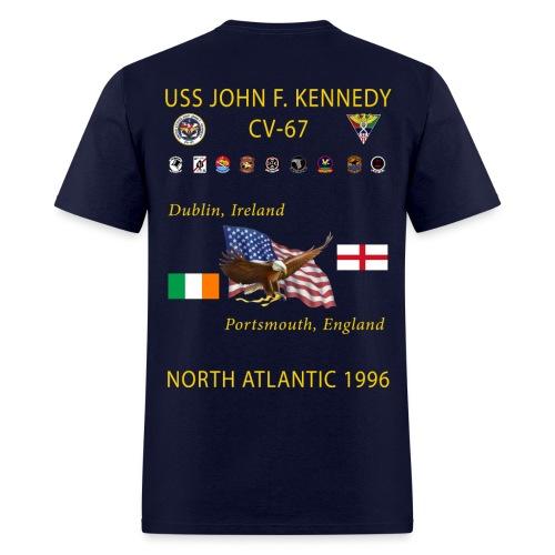 USS JOHN F KENNEDY CV-67 1996 CRUISE SHIRT - Men's T-Shirt