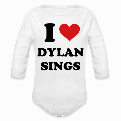 I ❤️ Dylan Sings Baby Long Sleeve One Piece - Organic Long Sleeve Baby Bodysuit