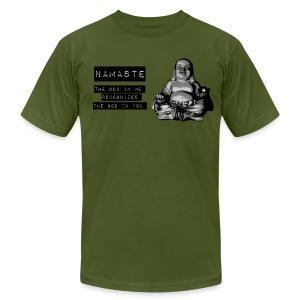 Namaste Fat Buddha - Men's Fine Jersey T-Shirt