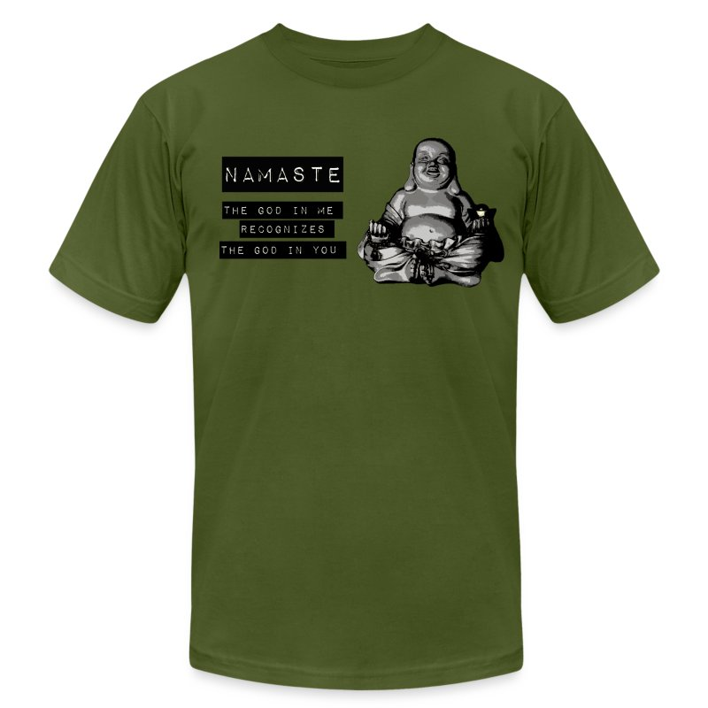 Namaste Fat Buddha - Men's T-Shirt by American Apparel