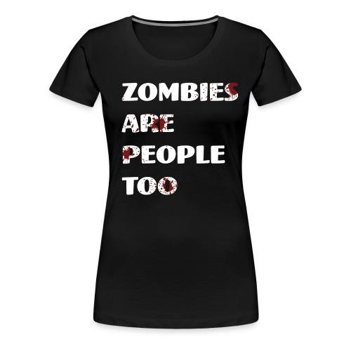 #ZombieLivesMatter women's - Women's Premium T-Shirt