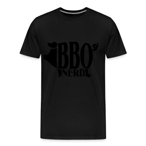 BBQ Nerd (Men's/Black) - Men's Premium T-Shirt