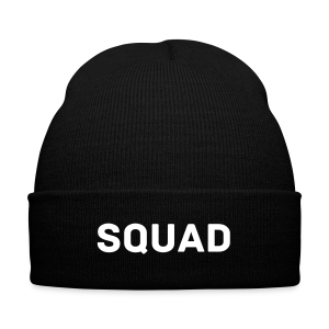 Squad Beanie - Knit Cap with Cuff Print