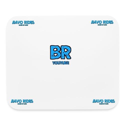 bavo rides muismad banner en logo - Mouse pad Horizontal