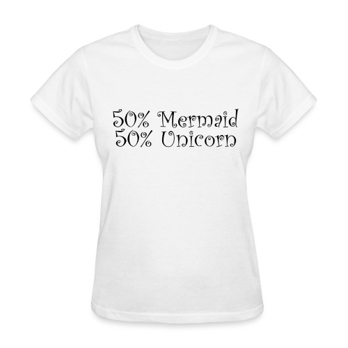 50% Mermaid Black - Women's T-Shirt