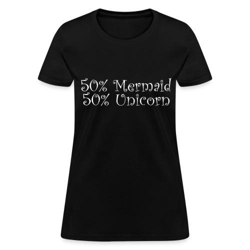 50% Mermaid White - Women's T-Shirt