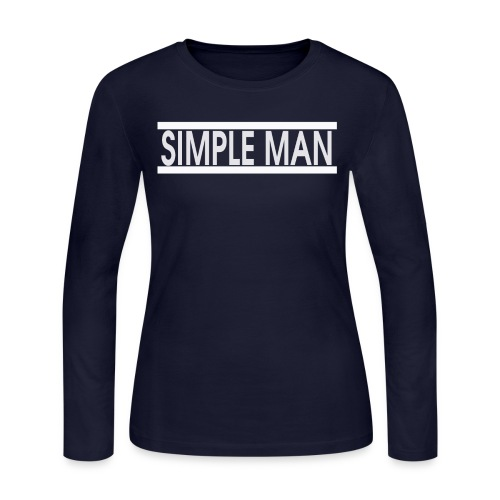 Women's SimpleMan Long Sleeve Jersey T - Women's Long Sleeve Jersey T-Shirt