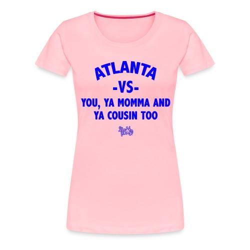 Atlanta VS Tee (Wmns) Blue - Women's Premium T-Shirt