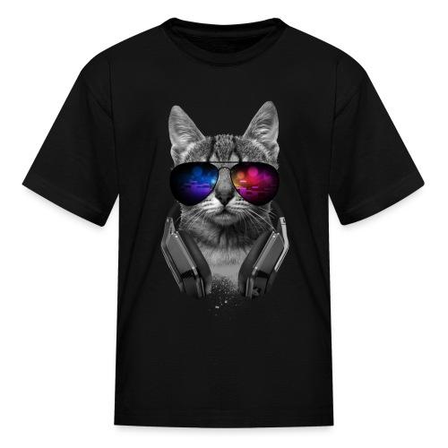 dj cool cat kids tee - Kids' T-Shirt