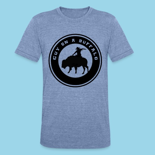 Guy On A Buffalo T-Shirt - Unisex Tri-Blend T-Shirt
