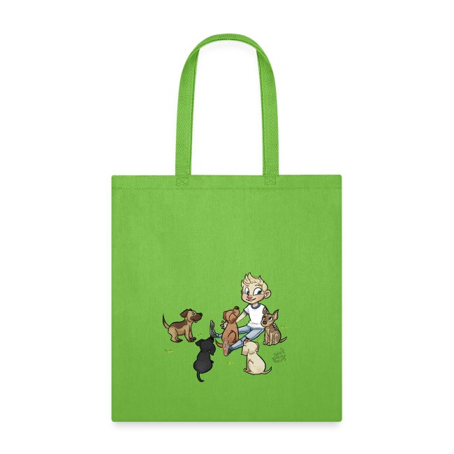Dog bag with grass