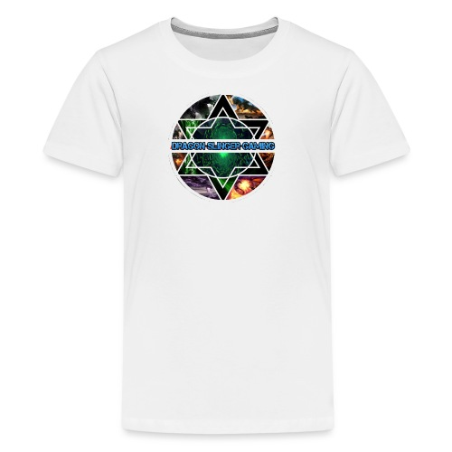 white dragon logo Tshirt - Kids' Premium T-Shirt