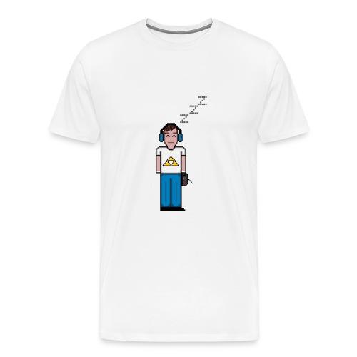 Men's Logo Design (W) - Men's Premium T-Shirt