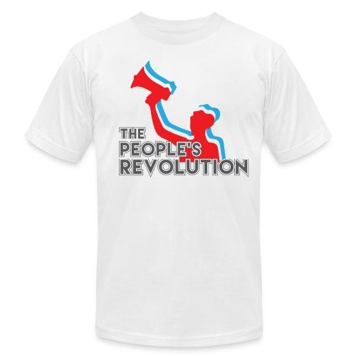 People's Revolution Logo - Men's American Apparel - Men's  Jersey T-Shirt