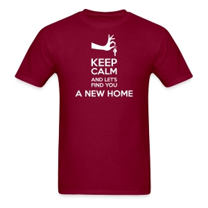 Keep Calm and Let's Find You a New Home - Men's T-Shirt
