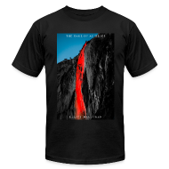 T-Shirts ~ Men's T-Shirt by American Apparel ~ The Rage of Achilles: Yosemite Horsetail Firefalls!  Dr. Elliot McGucken Fine Art Phtoography