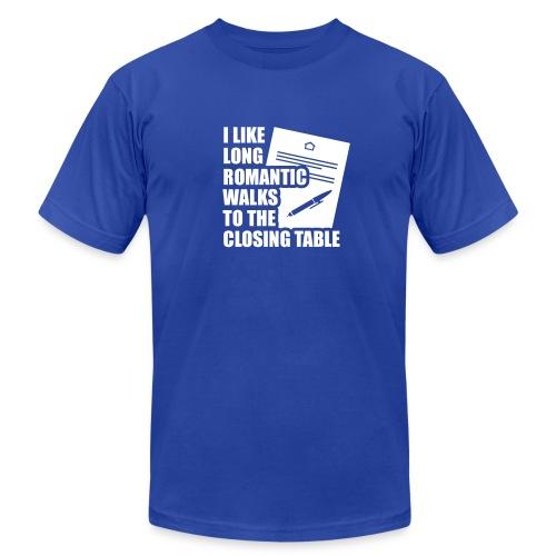 I Like Long Romantic Walks to the Closing Table - Men's Fine Jersey T-Shirt