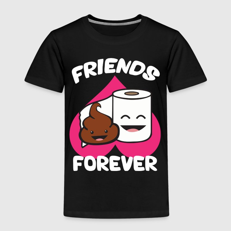 Friends Forever Poop And Toilet Paper Roll T Shirt