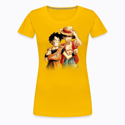 Luffy and Goku (Mujer) - Women's Premium T-Shirt