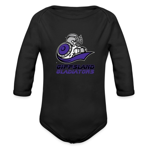 Gippsland Gladiators Long Sleeve Onsie - Organic Long Sleeve Baby Bodysuit