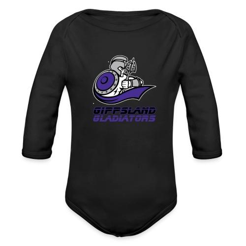 Gippsland Gladiators Long Sleeve Onsie - Organic Long Sleeve Baby Bodysuit