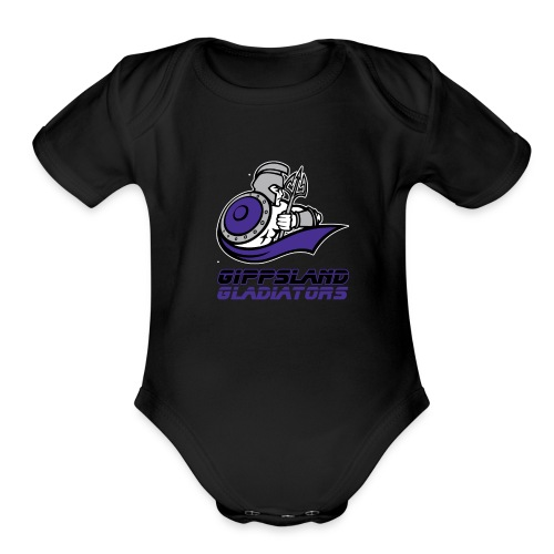 Gippsland Gladiators Short Sleeve Onsie - Organic Short Sleeve Baby Bodysuit