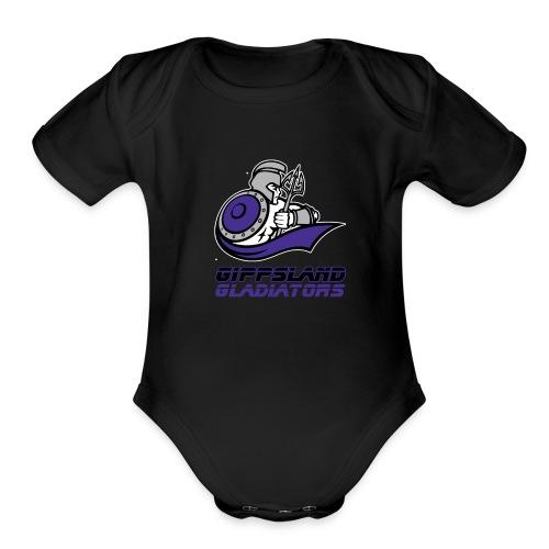 Gippsland Gladiators Short Sleeve Onsie - Organic Short Sleeve Baby Bodysuit