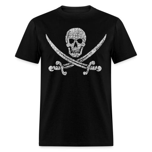 Distressed Jolly Roger - Men's T-Shirt