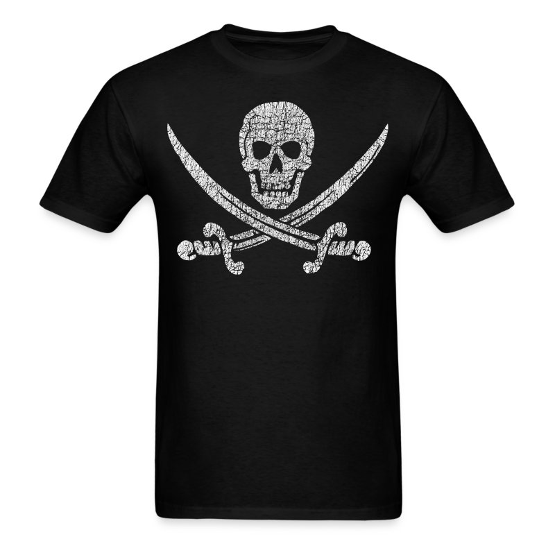 Distressed Jolly Roger - Men's T-Shirt