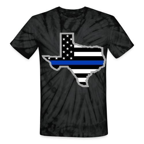 BLUE LIVES MATTER SHIRT - Unisex Tie Dye T-Shirt