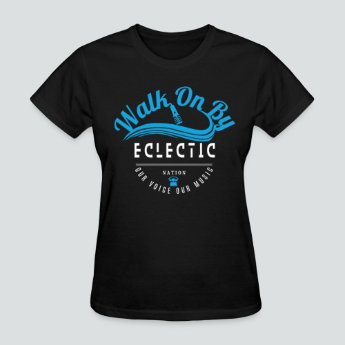 Walk On By Tee Blk/Royal - Women's T-Shirt