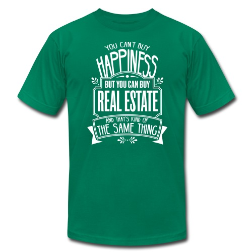 You Can't Buy Happiness but You Can Buy Real Estate - Men's Fine Jersey T-Shirt