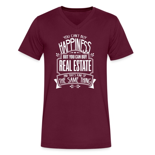 You Can't Buy Happiness but You Can Buy Real Estate - Men's V-Neck T-Shirt by Canvas