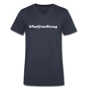 #FindYourStrong Men's V-Neck - Men's V-Neck T-Shirt by Canvas