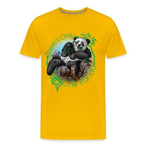 There's Only One Panda Premium Men - Men's Premium T-Shirt
