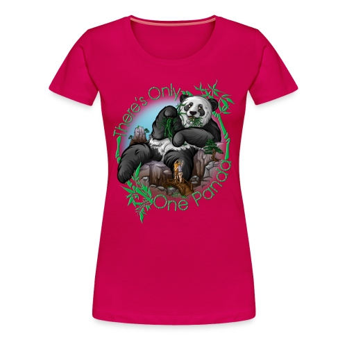 There's Only One Panda Premium Women - Women's Premium T-Shirt