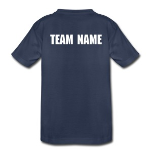 ADD PERSONALIZATION Navy Blue Big Kids Tee - Kids' Premium T-Shirt
