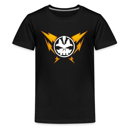 Power Supply logo (Black for kids) - Kids' Premium T-Shirt