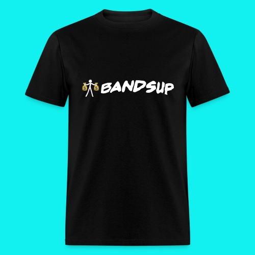 (Black) Male // Standing Money Man // Bands Up - Men's T-Shirt