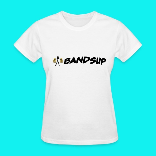 (White) Female // Standing Money Man // Bands Up - Women's T-Shirt